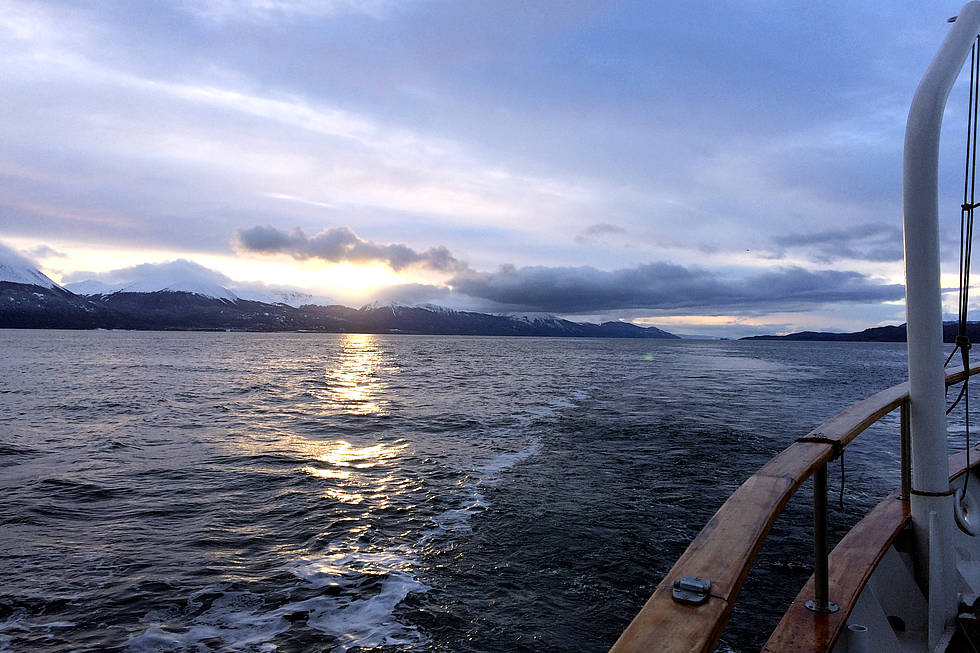 Sunset Beagle Channel aboard a ship