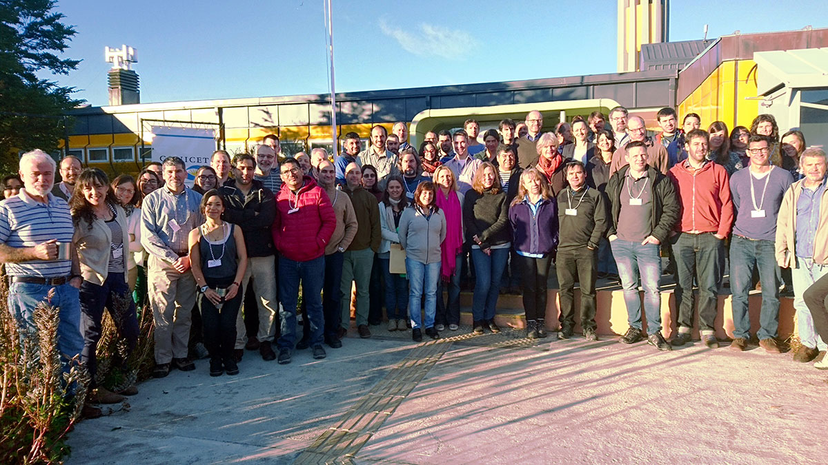 Participantes del 2. Taller DynAMo en CADIC en Ushuaia, Argentina. Foto: Doris Abele.