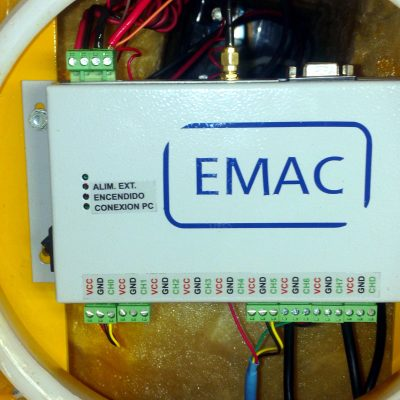 The heart of the buoy: data logger and modem