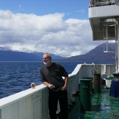 Onboard R/V Cabo de Hornos on the PROFAN expedition November 2019. Photo: Bernd Krock.