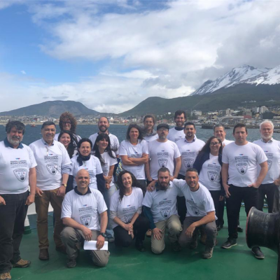 CADIC and UACh-IDEAL researchers in Ushuaia during bi-national Angelescu cruise 2019