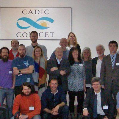 Participantes del 1. Taller DynAMo en CADIC en Ushuaia, Argentina. Foto: Doris Abele.