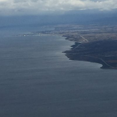Impressions from the airplane: Approaching Punta Arenas. Photo: Alica Ohnesorge